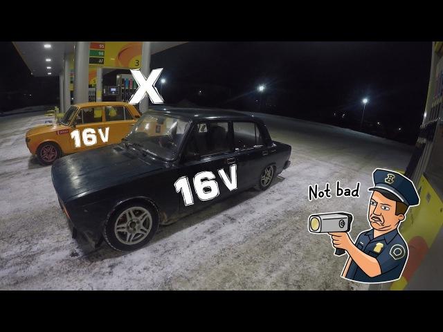 Боевая классика ep. хз . 16V. Шумный город. В поисках выхлопа. Меня засыпало снегом.