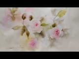 La Vie En Rose  How to Paint Dreamy Flowers Watercolor Timelapse,