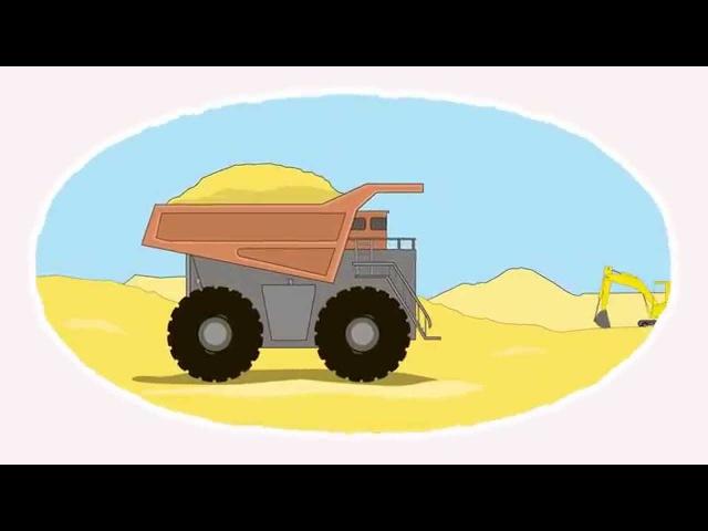 Zeichentrick-Malbuch. Die riesigen Nutzfahrzeuge.