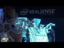 Intel Edison based SpiderDress CES 2015 RealSense