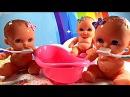 ❤ Куклы Пупсики Какают на горшок Умываются Чистят зубы Кушают кашу  Утро Пупсов  Игрушки для девочек