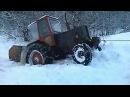 ЮМЗ-6 в снегу и грязи по уши! Иногда ЮМЗ тянет, иногда тянут его! Подборка