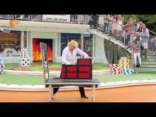 ZDF Fernsehgarten Illusionen mit Hans Klok Part 1
