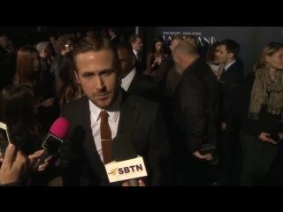 Ryan Gosling  Emma Stone Share the Red Carpet at LA LA LAND Premiere