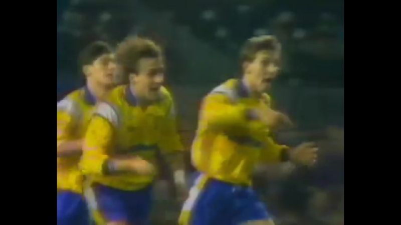 Гол Сергея Юрана в ворота Барселоны в 1/4 кубка Кубков 1990/91