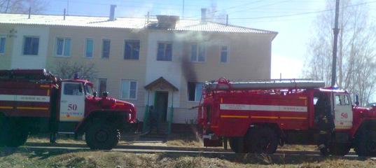 Усть-Илимск. Пожар 03.05.2017