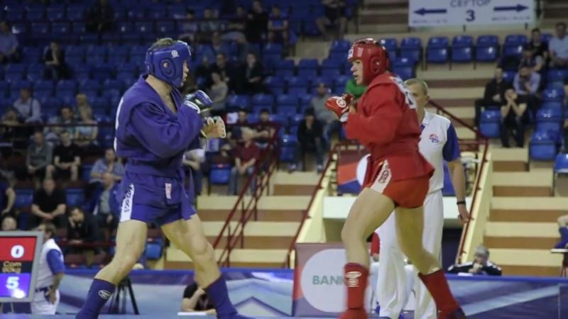 Combat SAMBO SemiFinal -90 kg DAVYDENKO (UKR) - ALIEV (RUS) European Championship 2017 Belarus Minsk