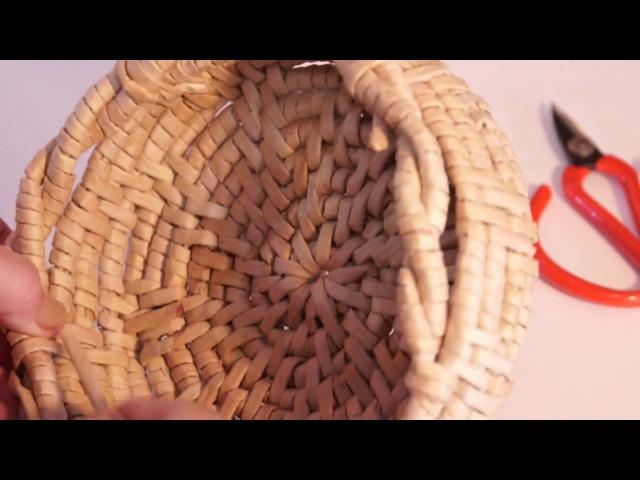 Окончание плетения обмоткой по типу итальянской загибки. Часть 2 из 3.