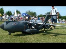R/C PARACHUT JUMPER out the A400M, lets fly !! RC MILITARY AIRBUS A400M Scale Modell Airplane