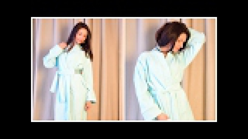 ШИТЬ ПРОСТО домашний халат БЕЗ ВЫКРОЙКИ ЗА ОДИН ЧАС спущенный рукав DIY