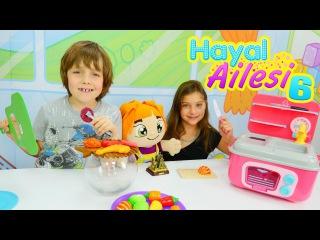 Hayal Ailesi 6 – çocuk dizisi türkçe. Mangal oyunu/ Yemek pişirme oyunları. Evcilik oyunları