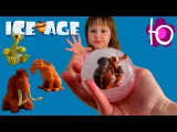Ледниковый период ледяные яйца с сюрпризом из мультика Угадай кто Ice age surprise eggs ope...