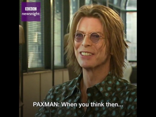 Bowie: Its going to crush our ideas of what mediums are all.