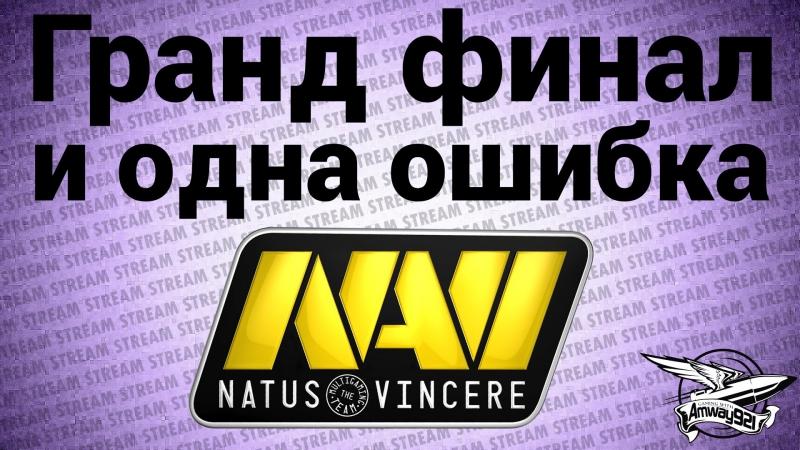 Стрим - Гранд финал и одна ошибка NaVi