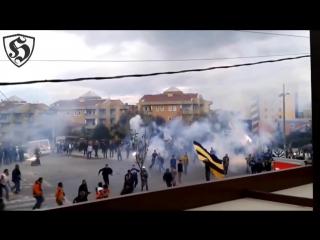 Hooligans Fight _ Galatasaray vs Fenerbahce in Bursa