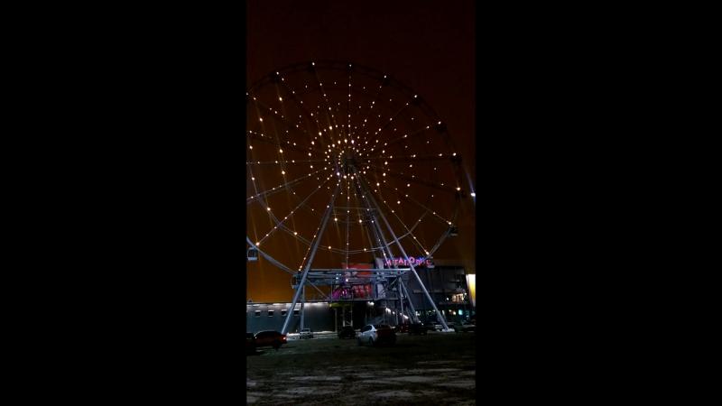 Пуско наладочные работы архитектурного освещения от Weiss Group 1 день Колесо обозрения г Челябинск 1 ролик