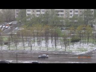 Майский снег в Братеево.