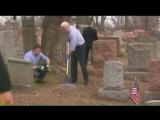 Vice President Mike Pence made an unannounced visit to a vandalized Jewish cemetery