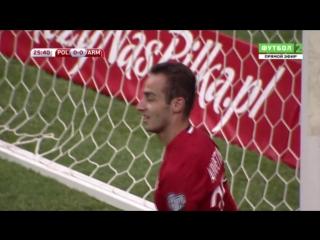 Լեհաստան - Հայաստան. Լևանդովսկիի հարվածից հետո Հայրապետյանը գնդակը հանում է դատարկ դարպասից