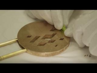 Изготовление золотой медали #Сочи2014