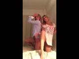 Сестрички,решили всех удивить своей фигурой и танцам пошлым очень !