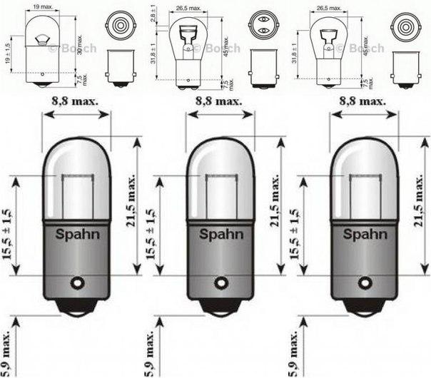 Лампа накаливания, фонарь указателя поворота; Лампа накаливания для AUDI V8 (44_, 4C_)