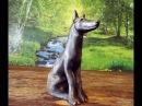 Резьба по дереву. Собака. Скульптура. Woodcarving. Wooden dog, DIY