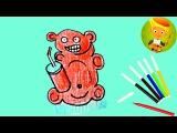 Как нарисовать медведь Валера. Желейный медведь Валера. Медведь Валера и стакан