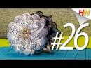 Большой цветок из ленты Ободок Канзаши в школу Канзаши для начинающих Урок № 26