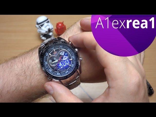 Стильные мужские часы кварц водонепроницаемые