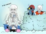 UNDERTALE COMICS MIX Rus Dub by Руфес # 3  Сансиии~~