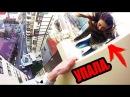 Девушка рискует жизнью Чуть не упала с крыши ПОБЕГ от полиции и охраны СИНИЙ КИТ