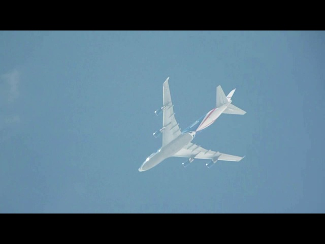 CargoLogicAir Boeing-747-446F G-CLAA departs Moscow SVO