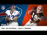 1989 AFC Divisional Playoff Game Buffalo Bills vs. Cleveland Browns NFL Full Game