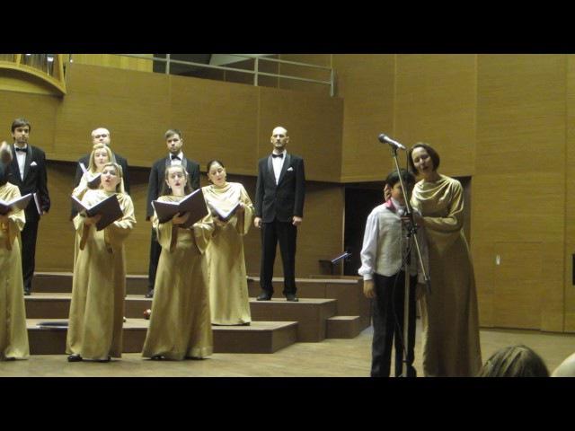 Аршад Гейдаров с хором им.В.С. Палкина на концерте в Хар. обл.филармонии .