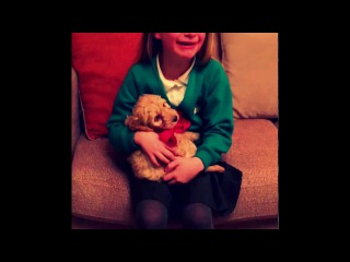this video made me cry..This girl just got her very first puppy