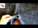 Как зашить дырку на джинсах между ног Ремонт джинс Штопка джинсов