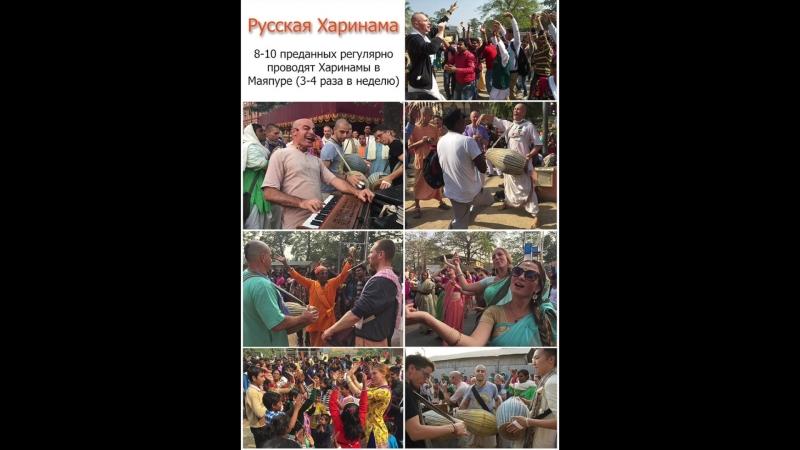 Русскоязычные преданные в Маяпуре. Отчет за пол года.