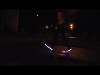 Shuffle dance in LED shoes