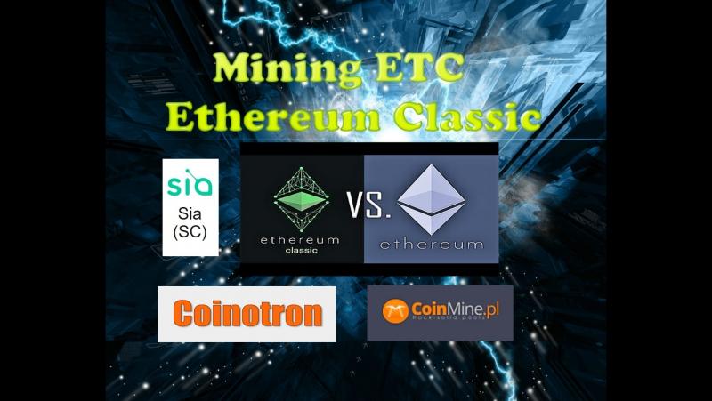 MINING Ethereum Classic (ETC) SIA DCR
