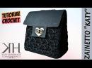 Tutorial zainetto Katy Punto diamante semplice How to make crochet backpack Katy Handmade