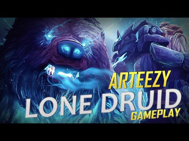 Arteezy playing Lone Druid (Gameplay)