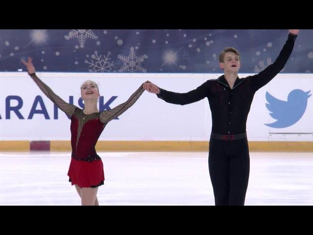2016 ISU Junior Grand Prix - Saransk - Pairs Short Program - BOIKOVA / KOZLOVSKII RUS