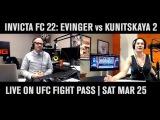 Invicta FC 22 Preview Show TJ De Santis &amp Julie Kedzie