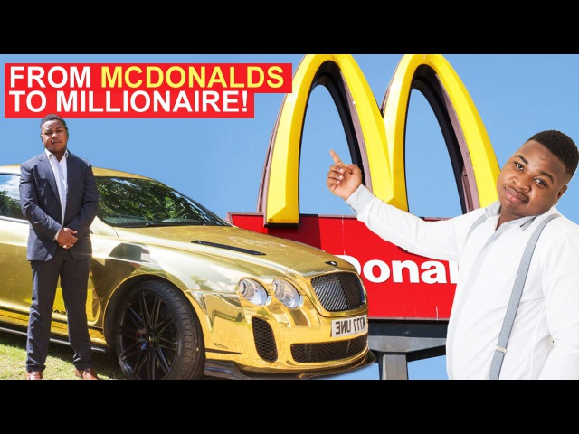 From McDonalds to Millionaire - 19-Year-Old Buys Gold Bentley