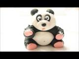 Fondant Panda Bear  How To Make A Fondant Panda Bear Cake Topper  Creativity with Sugar