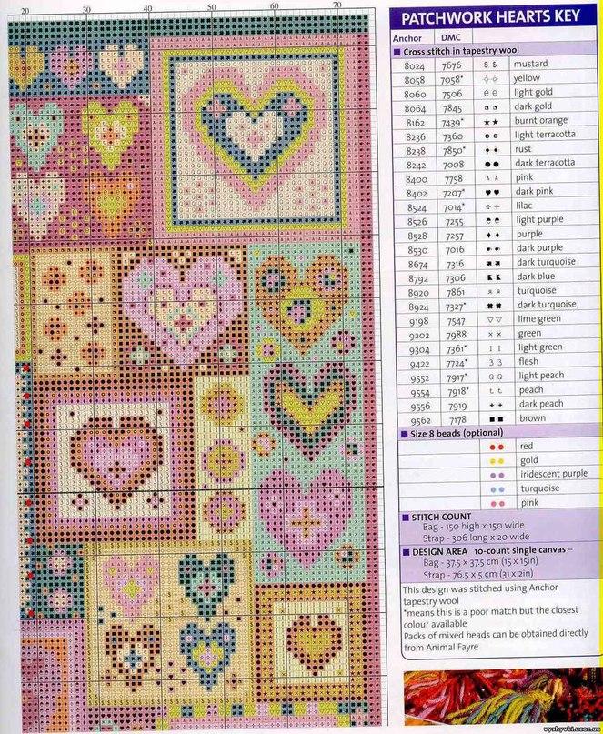 Схемы вышивки крестом для холщовой сумки 80