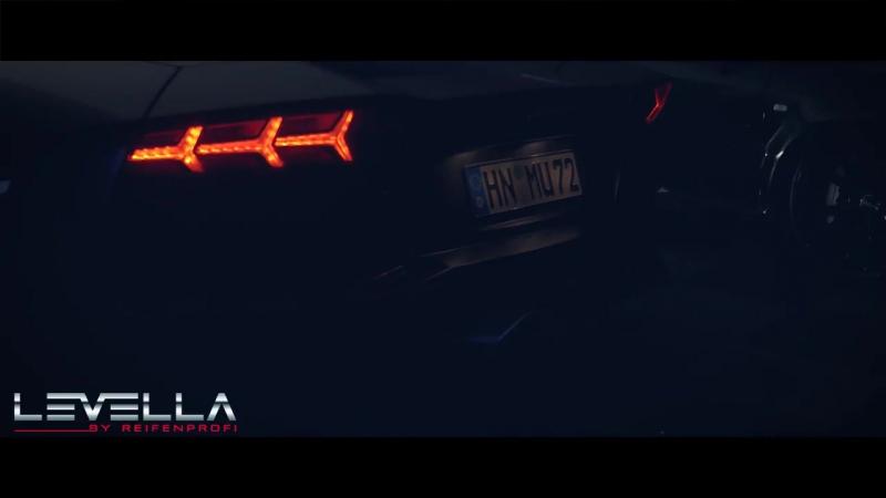 LEVELLA Lamborghini Aventador shooting some flames Levella Performance Exhau