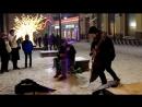 Постновогодняя Москва.. ул. Кузнецкий Мост.. Песенки на улице.. MAH06905