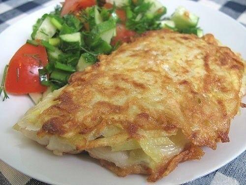 Рыба в картофельной корочке Ингредиенты: 4 тушки тилапии (или